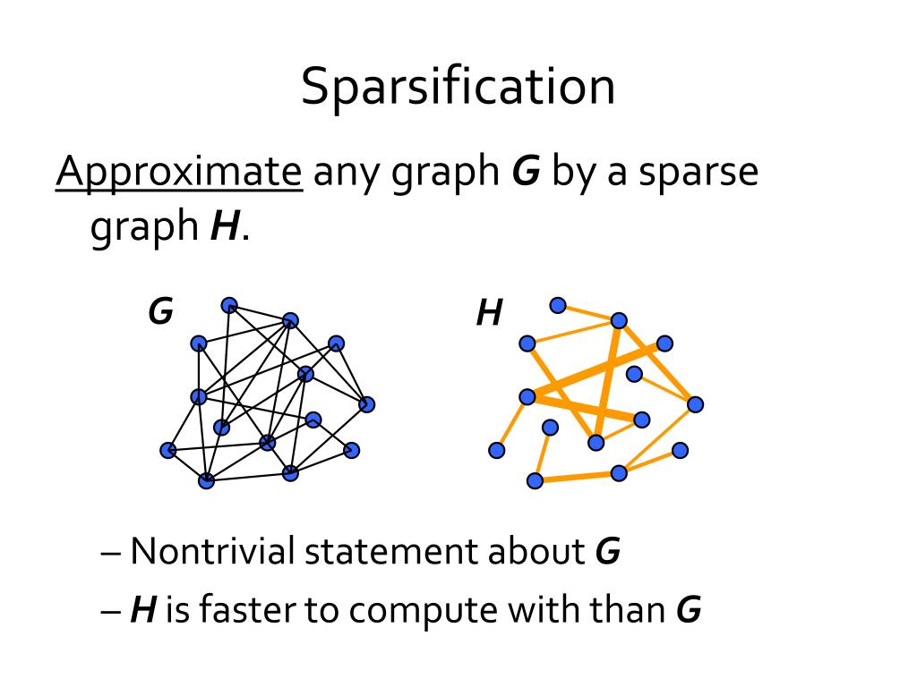 Sparsification