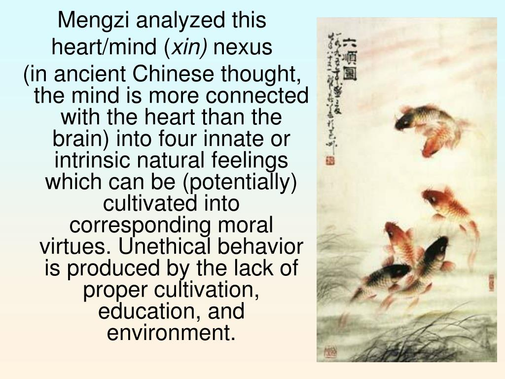 Mengzi analyzed this