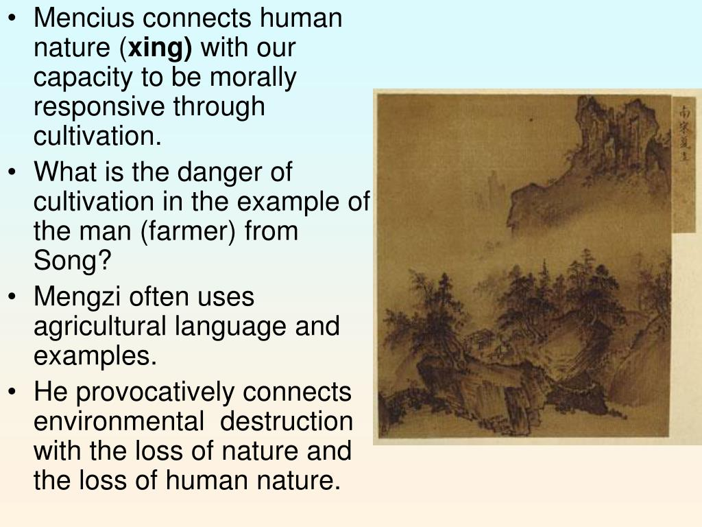 Mencius connects human nature (