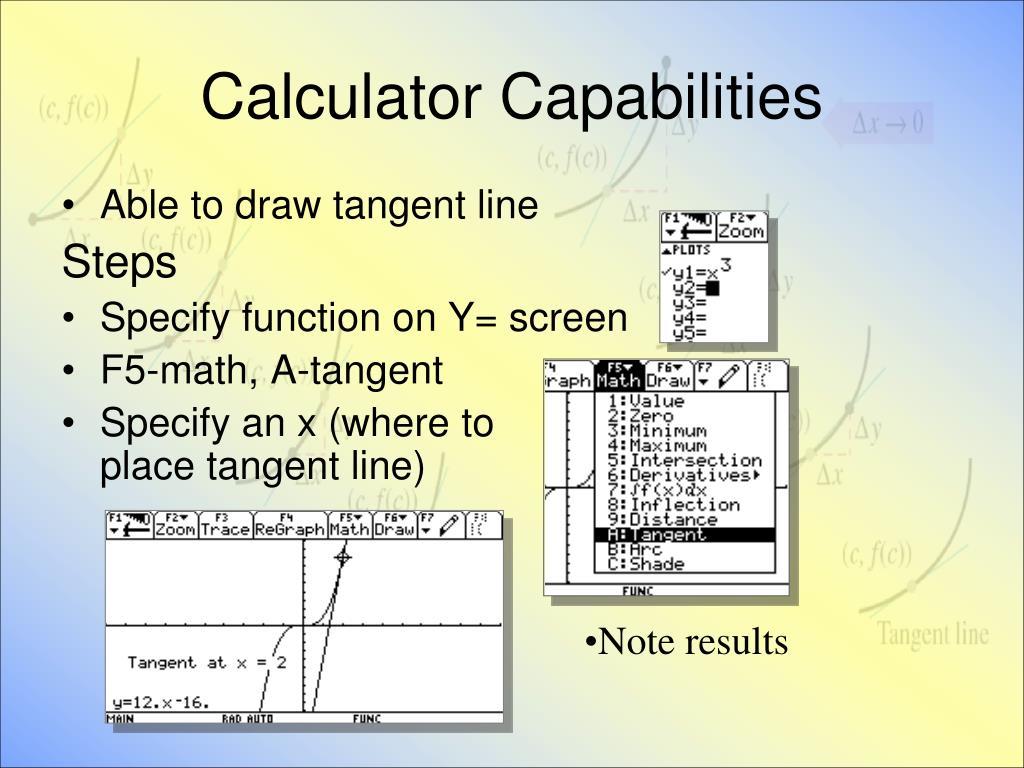 Calculator Capabilities