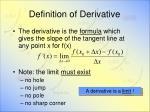 definition of derivative