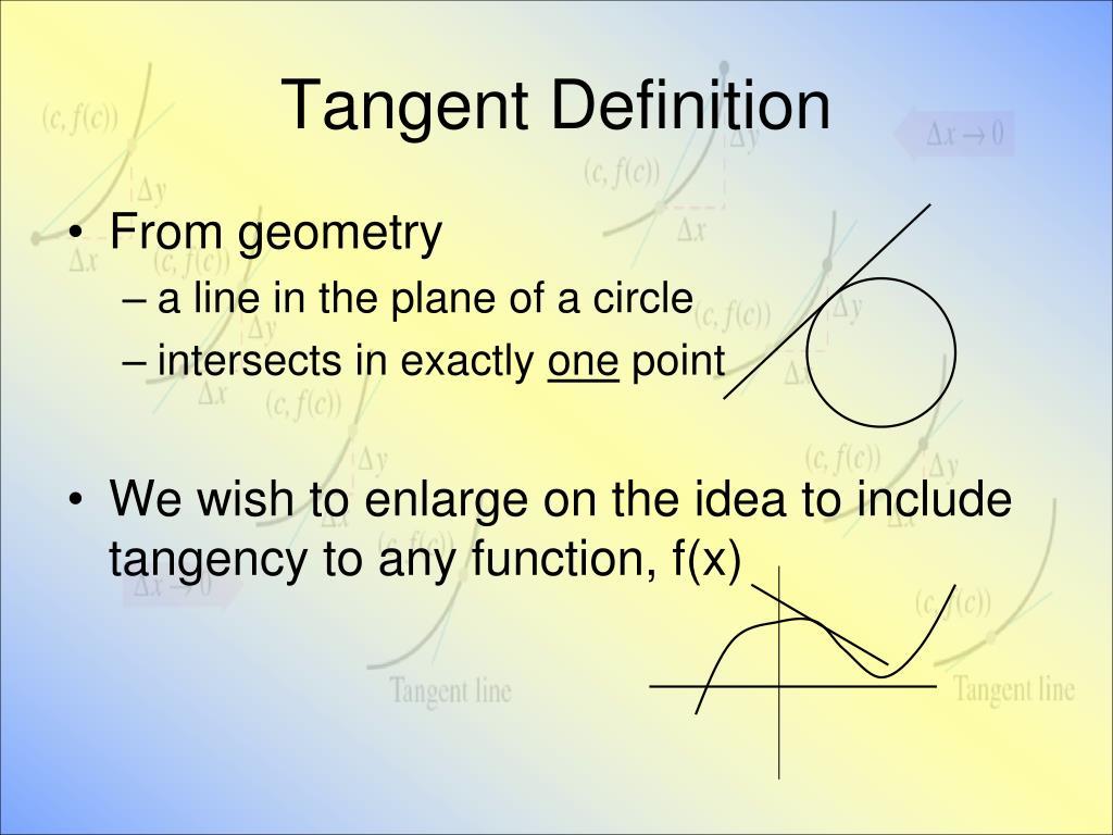 Tangent Definition