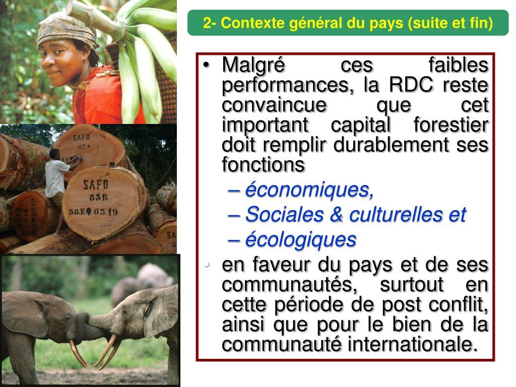 2- Contexte général du pays (suite et fin)