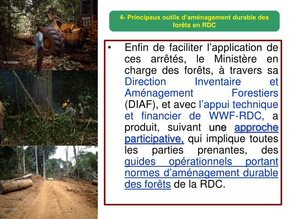 4- Principaux outils d'aménagement durable des forêts
