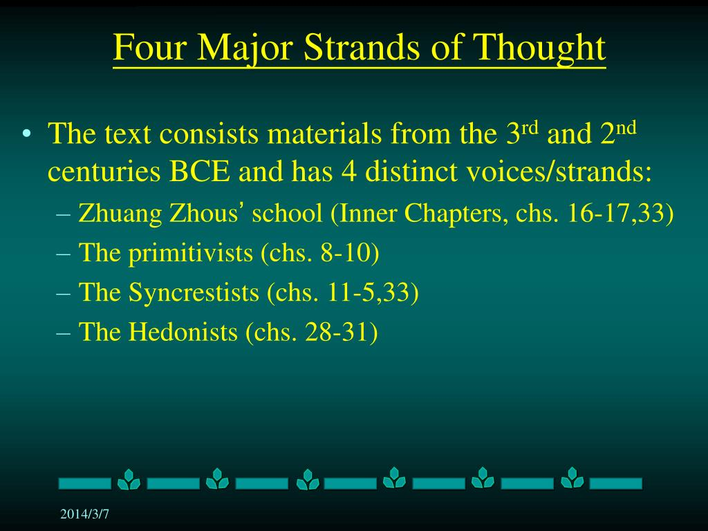 Four Major Strands of Thought