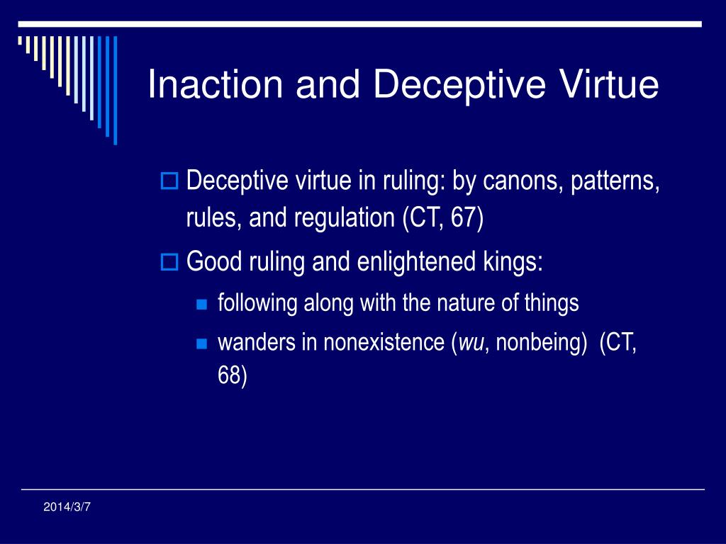 Inaction and Deceptive Virtue