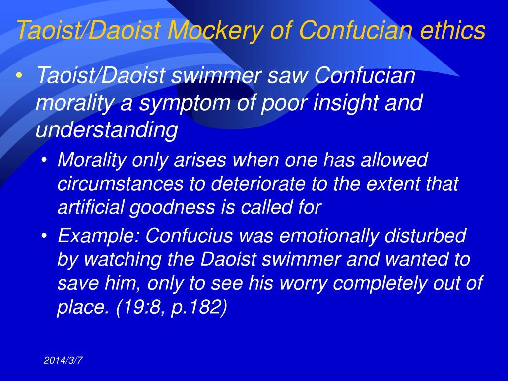 Taoist/Daoist Mockery of Confucian ethics