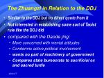 the zhuangzi in relation to the ddj
