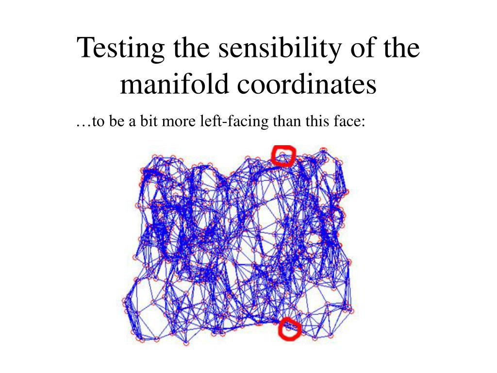 Testing the sensibility of the manifold coordinates