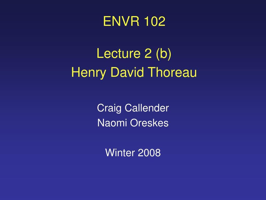 ENVR 102