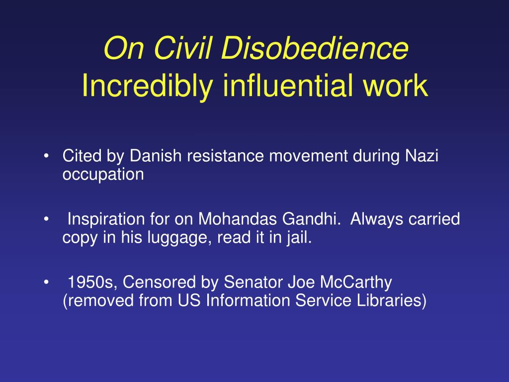 On Civil Disobedience