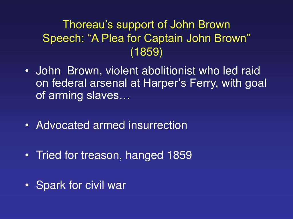 Thoreau's support of John Brown