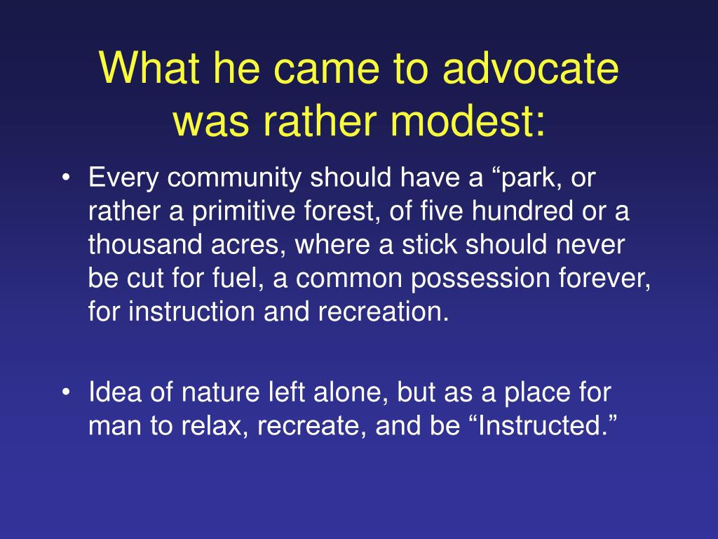 What he came to advocate was rather modest: