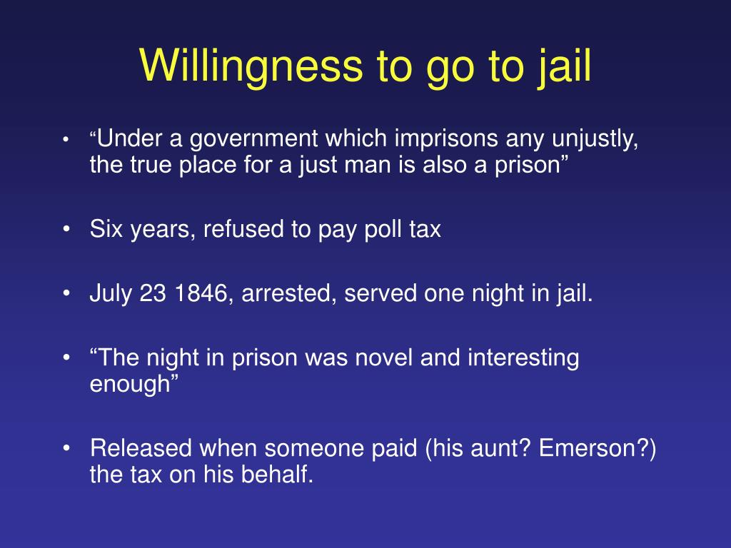 Willingness to go to jail