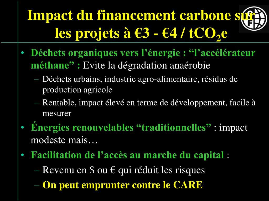 Impact du financement carbone sur les projets