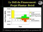 le d fi du financement projet plantar br sil