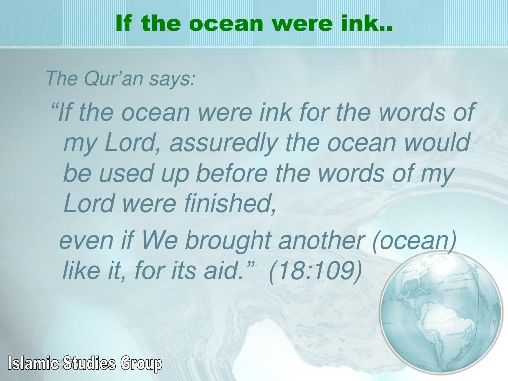 If the ocean were ink