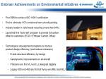 embraer achievements on environmental initiatives