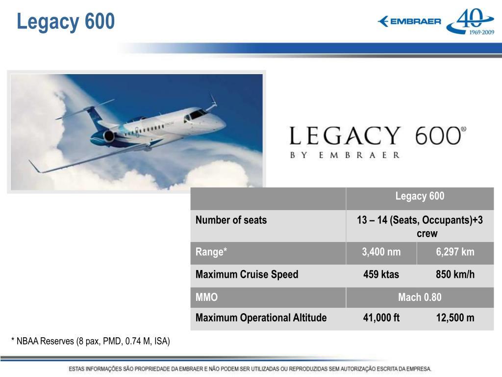 Legacy 600