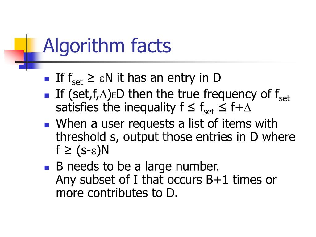 Algorithm facts