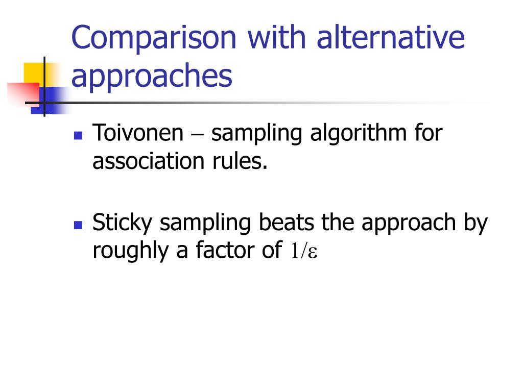 Comparison with alternative approaches