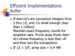 efficient implementations buffer