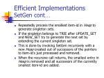 efficient implementations setgen cont71
