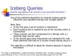 iceberg queries identify aggregates that exceed a user specified threshold r