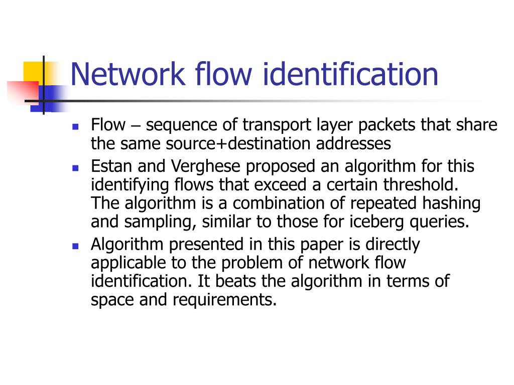 Network flow identification