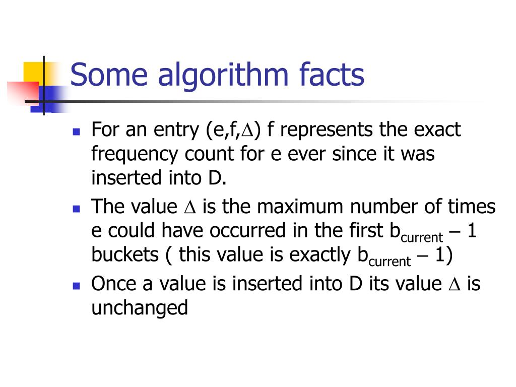 Some algorithm facts