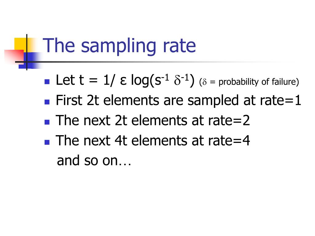The sampling rate