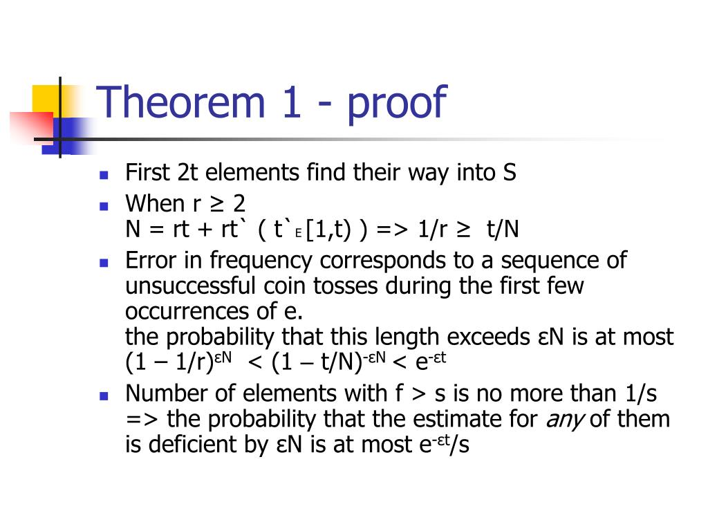 Theorem 1 - proof