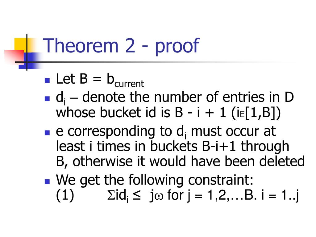 Theorem 2 - proof
