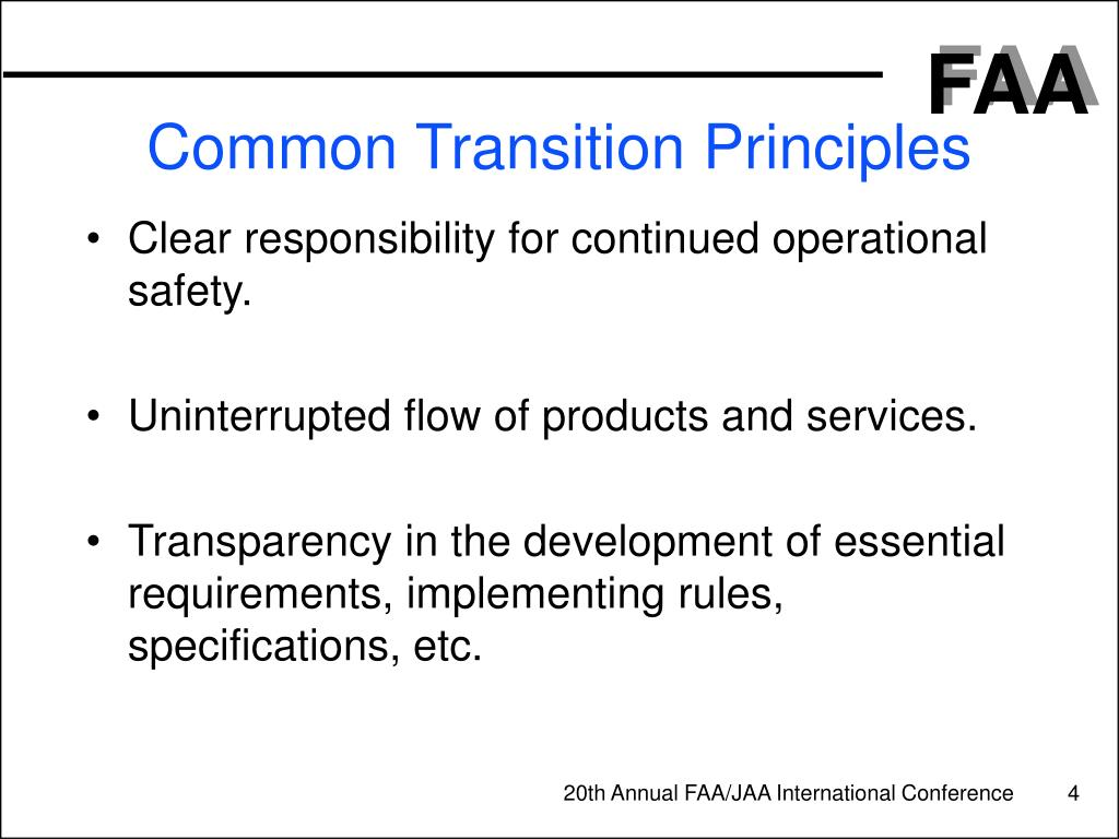 Common Transition Principles