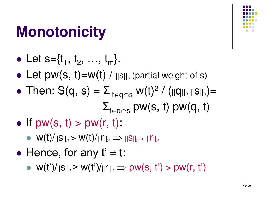 Monotonicity