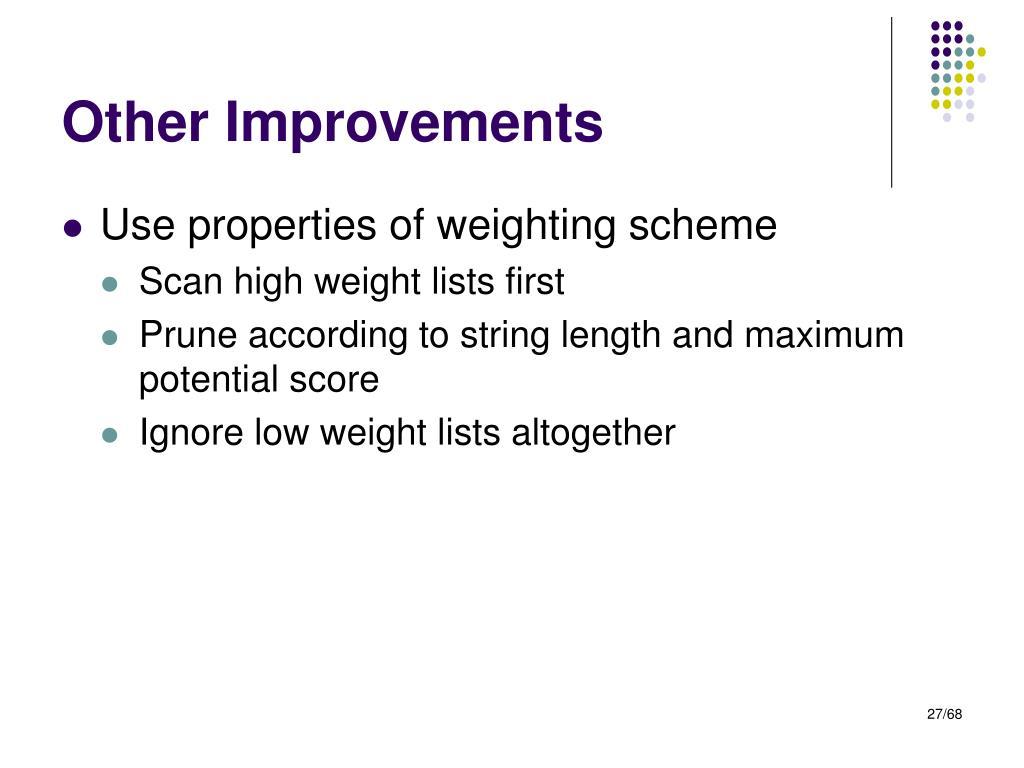 Other Improvements