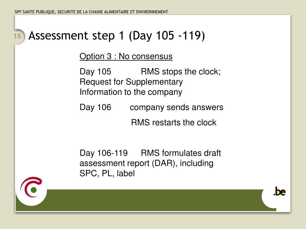 Assessment step