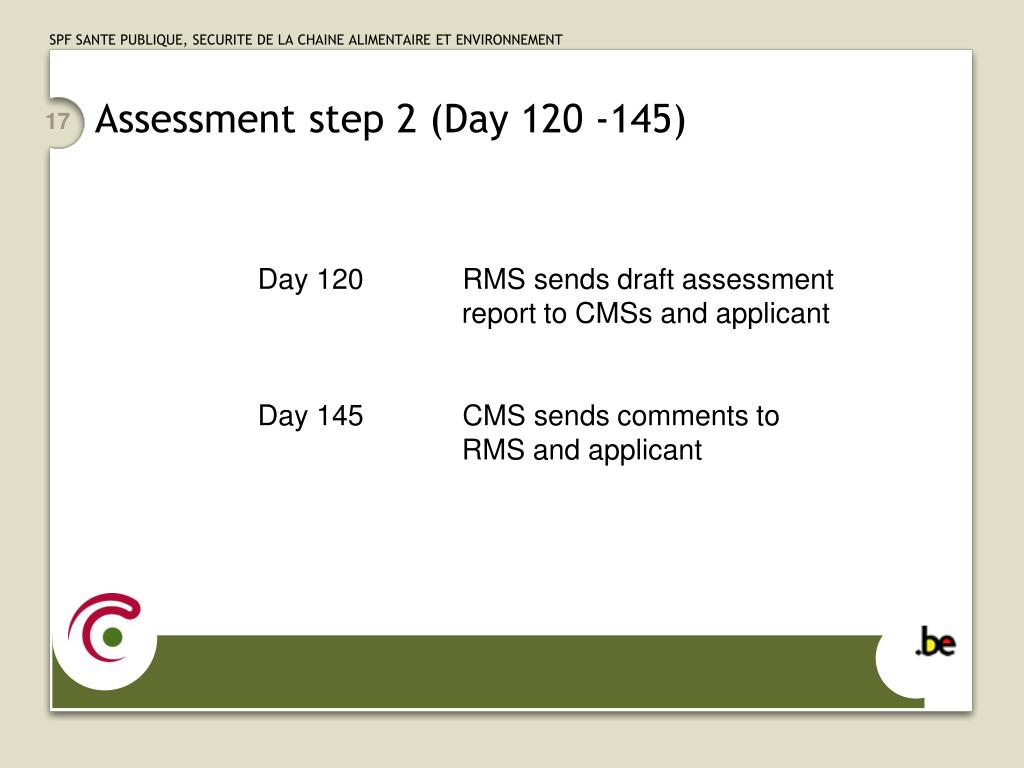 Assessment step 2 (Day 120 -145)