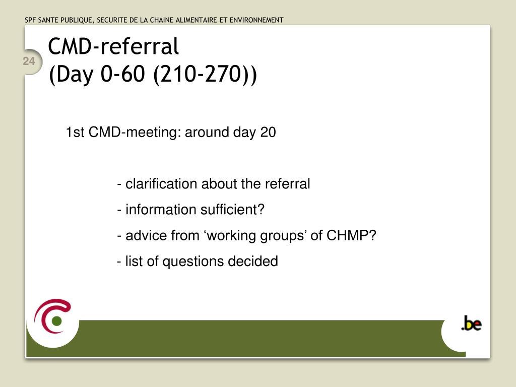 CMD-referral