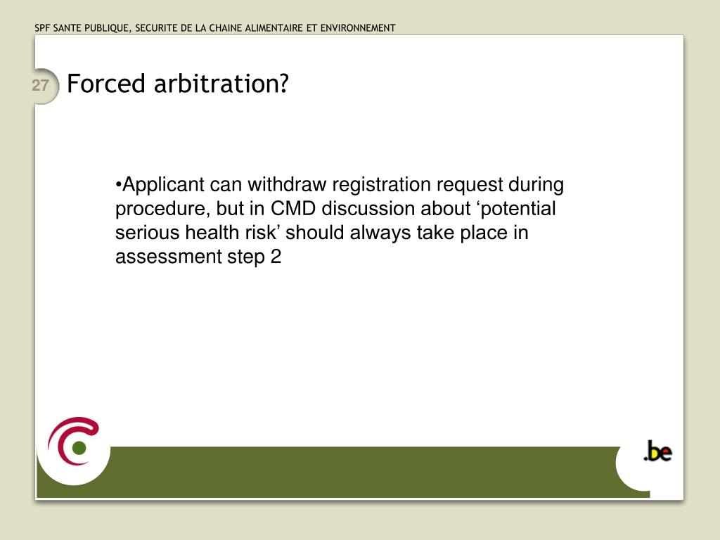 Forced arbitration?