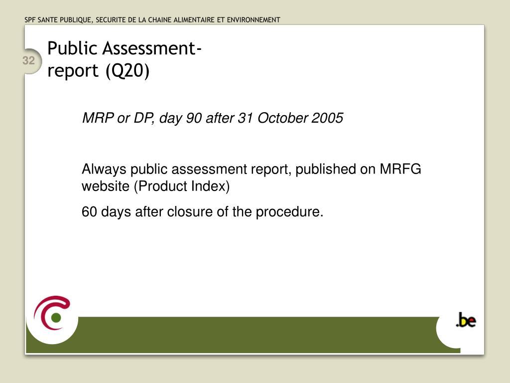 Public Assessment-
