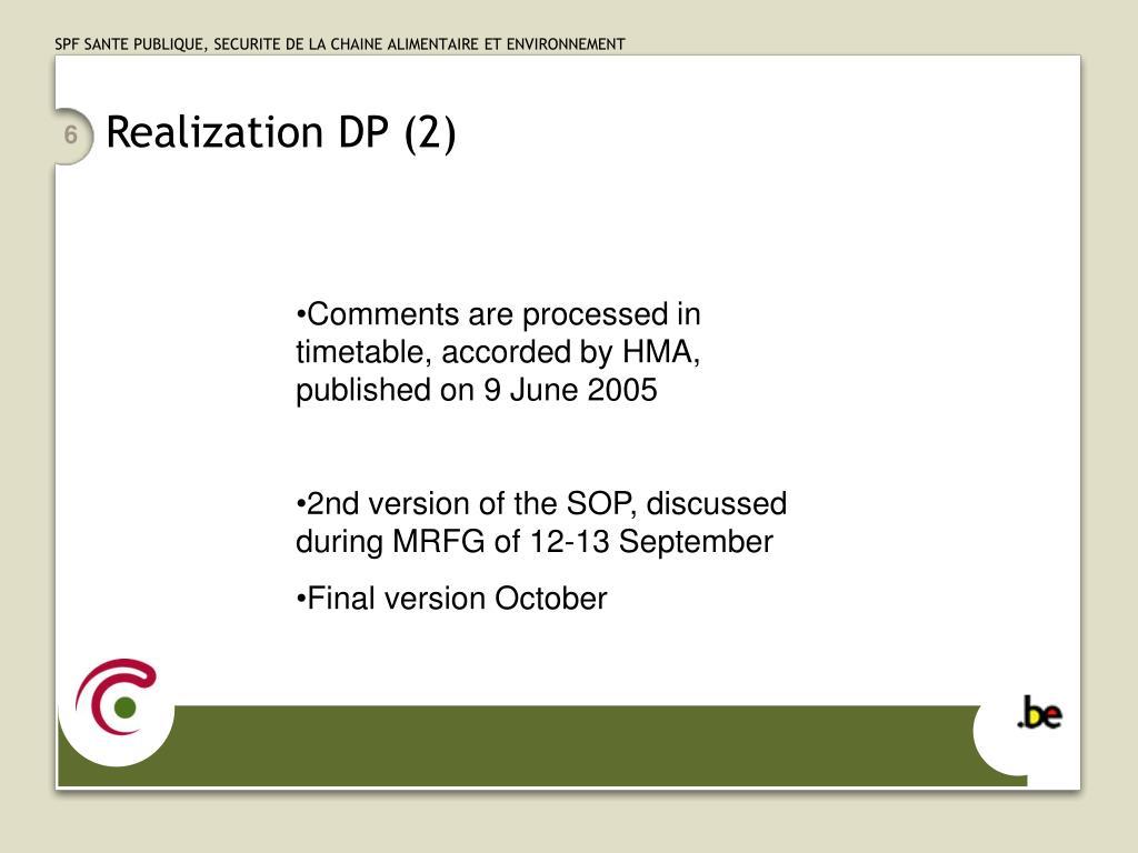 Realization DP (2)