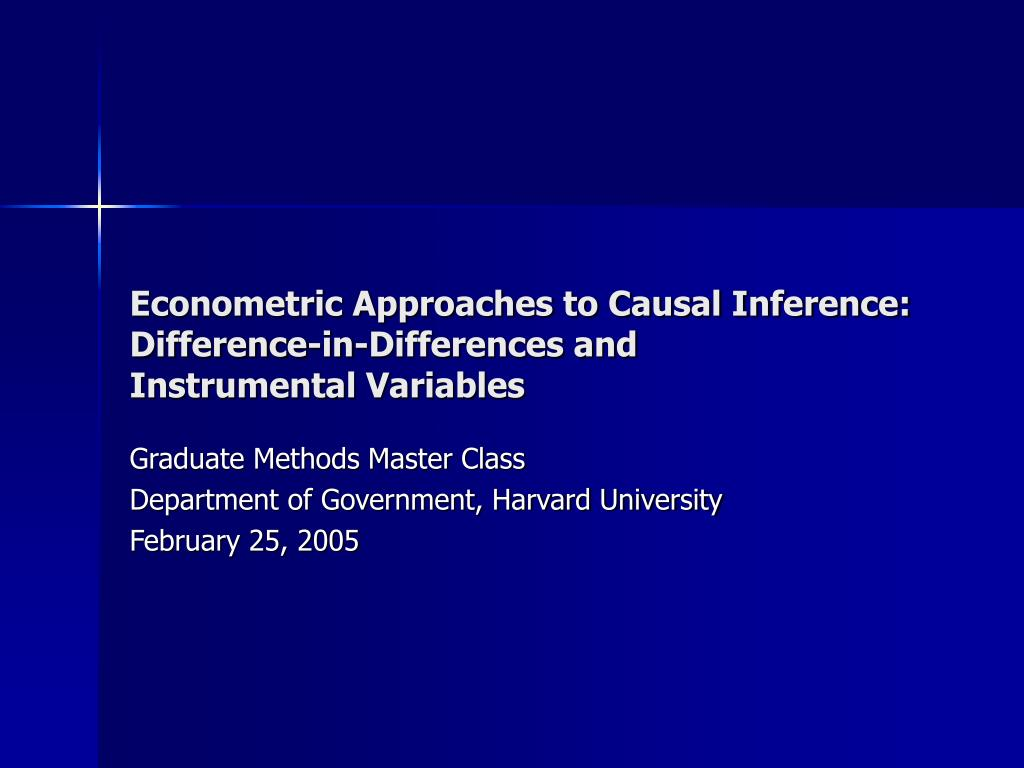 Econometric Approaches to Causal Inference:
