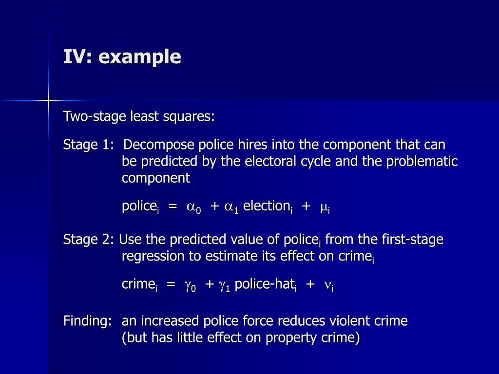 IV: example