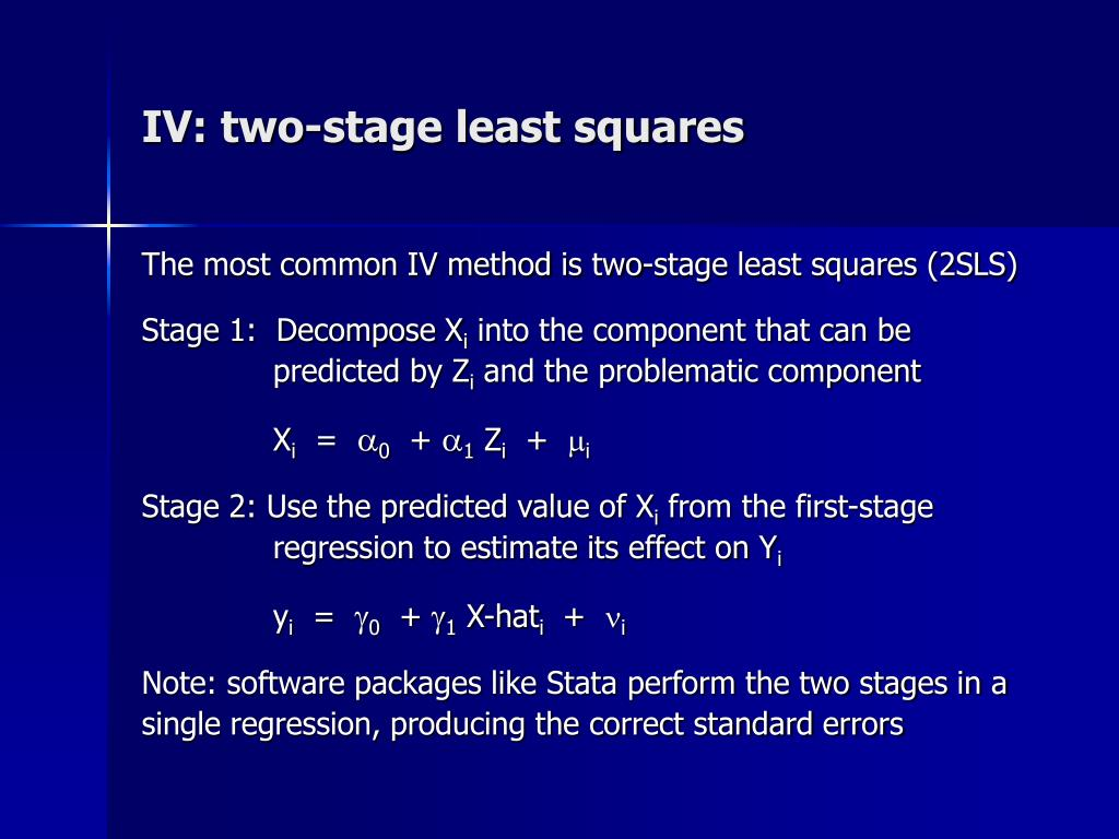 IV: two-stage least squares