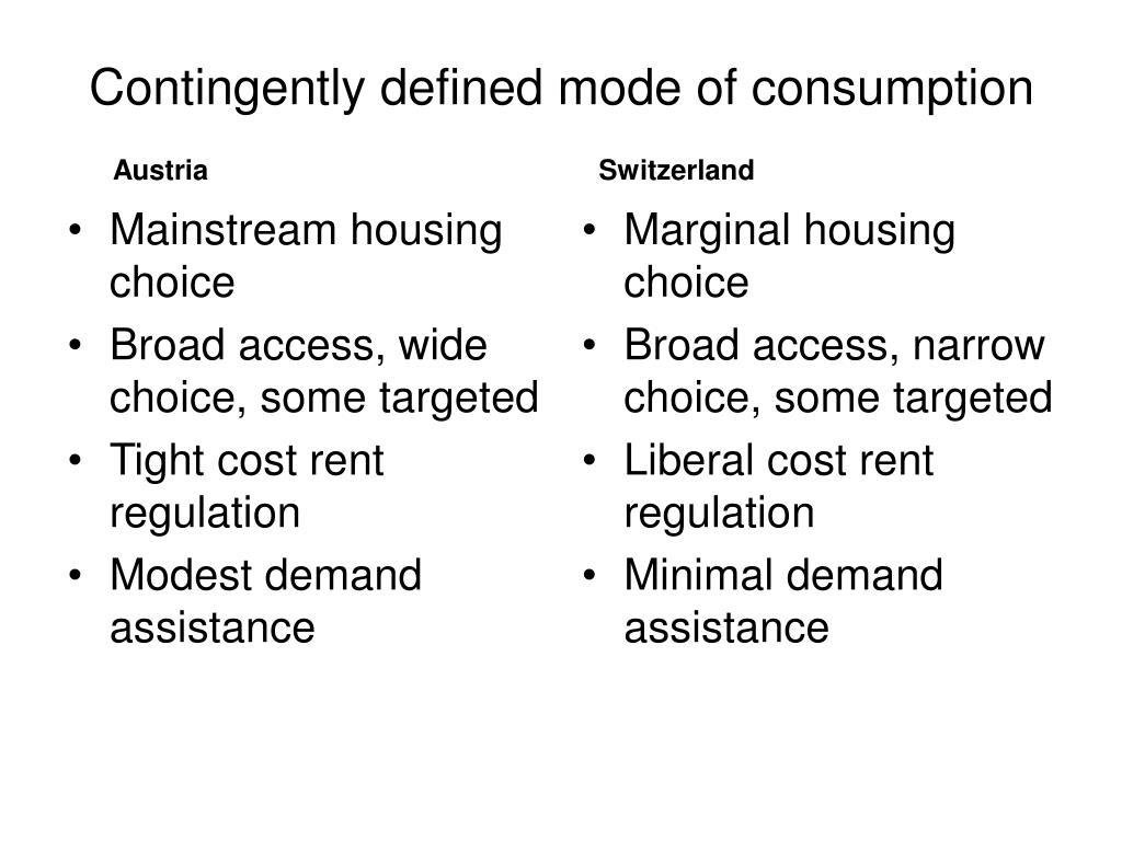 Mainstream housing choice