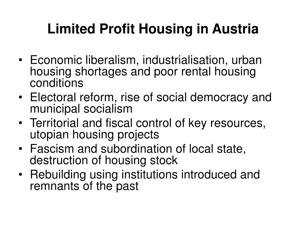 Limited Profit Housing in Austria