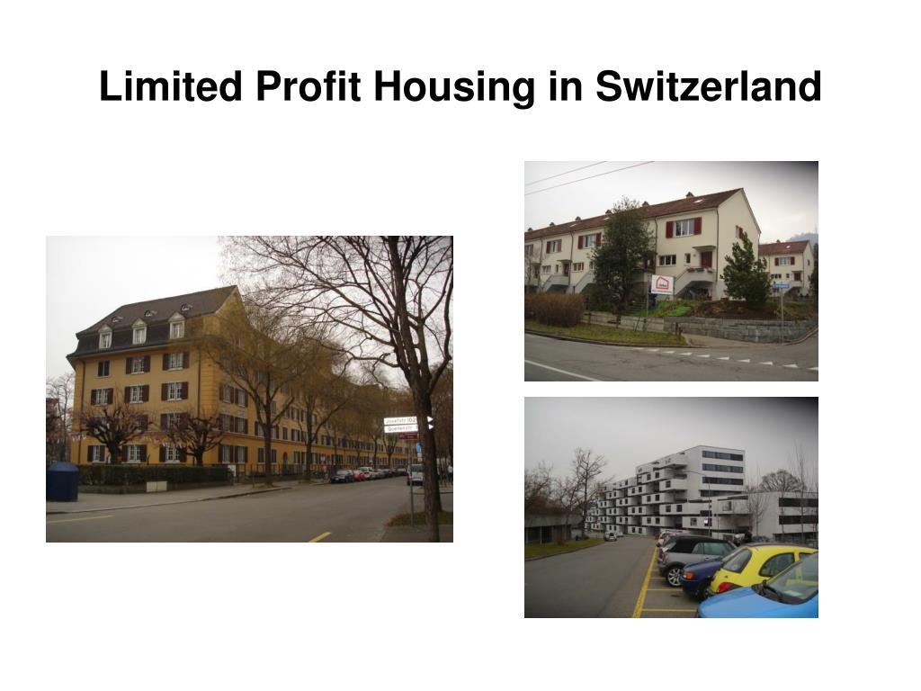Limited Profit Housing in Switzerland