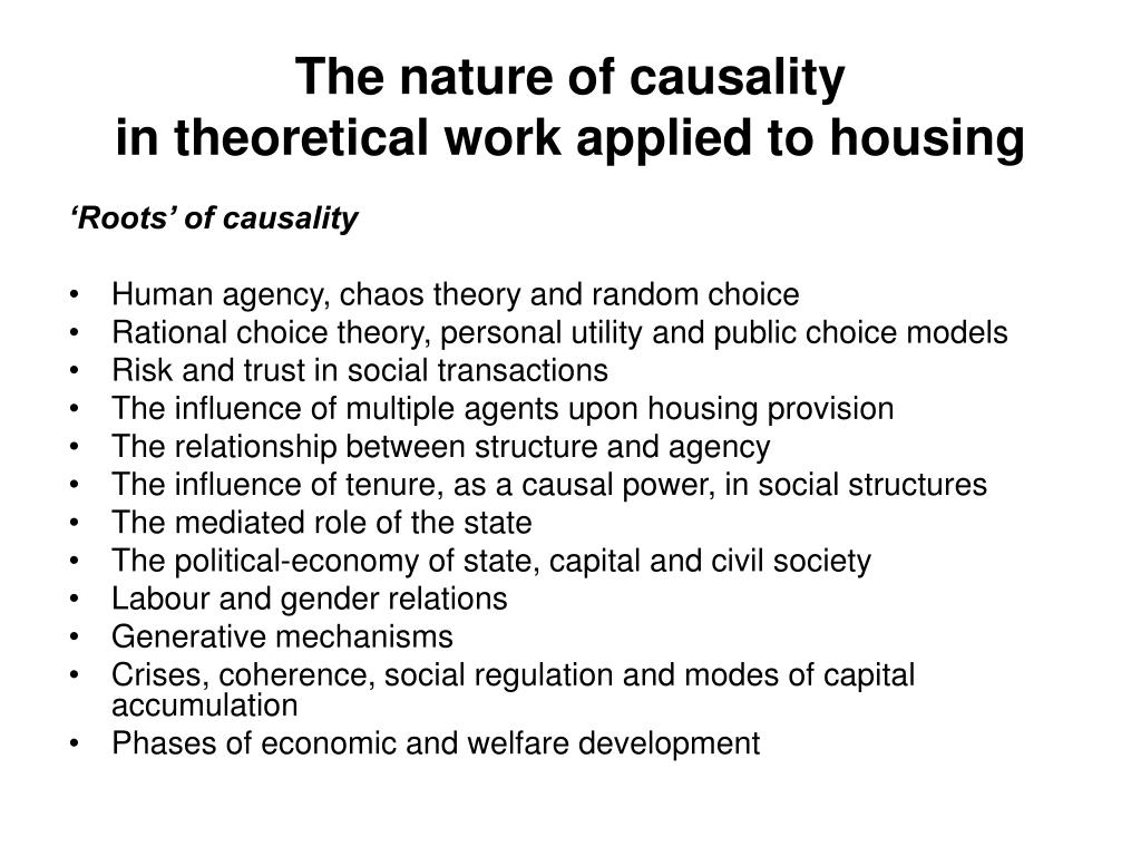 The nature of causality