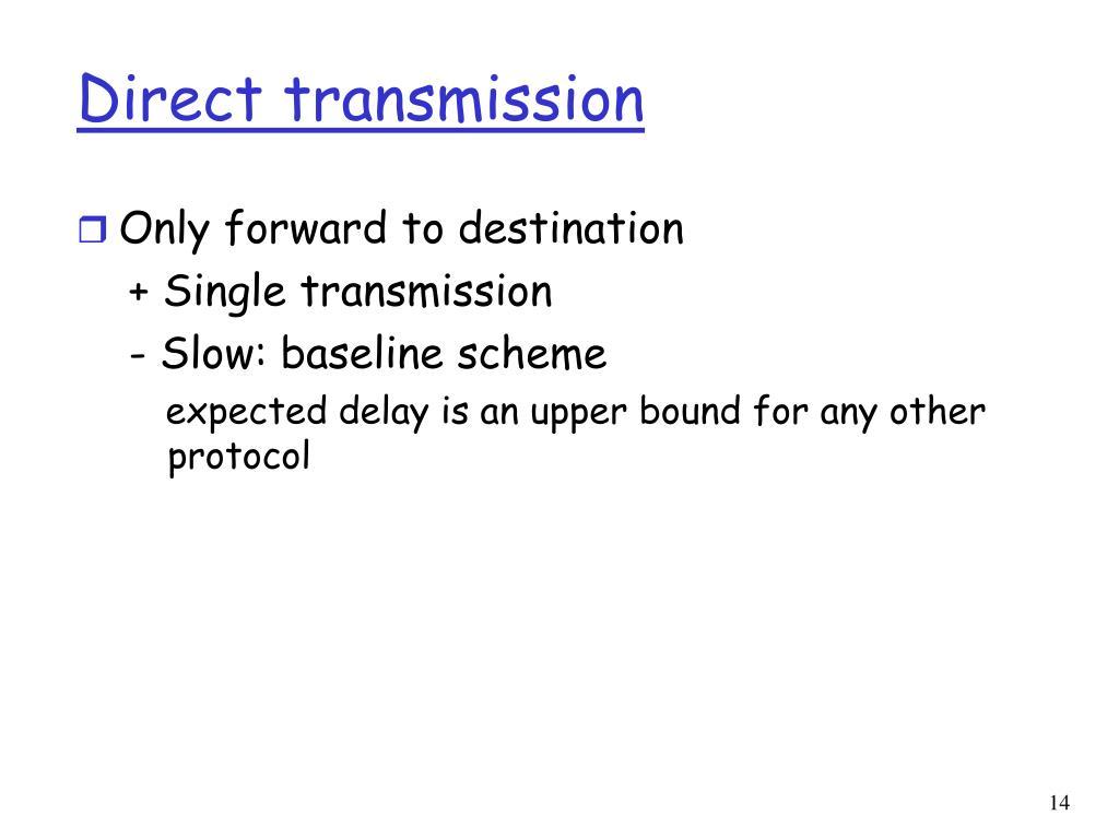 Direct transmission